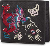 Gucci Rev D'orient Dragon Embroidered Leather Billfold Wallet