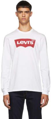 Levi's Levis White Logo Long Sleeve T-Shirt