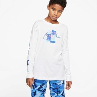Nike Boys 8-20 Sportswear Color Square Logo Tee