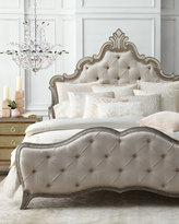 Lili Alessandra Karl Basketweave Pillow with Velvet Applique