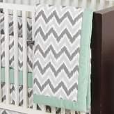 Bacati Ikat Chevron Crib Blanket