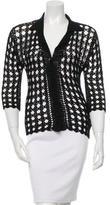 Dolce & Gabbana Crocheted Three-Quarter Sleeve Cardigan w/ Tags