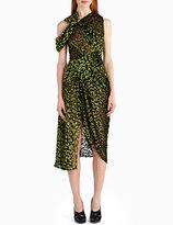 Jason Wu Velvet Devore Off-Shoulder Cocktail Dress