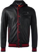 Philipp Plein Troublemaker bomber jacket - men - Cotton/Viscose/Sheep Skin/Shearling - M