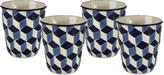 Pols Potten Cups - Set Of 4 - 3D - Blue