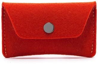 Graf Lantz Card Wallet Orange + Sienna Felt