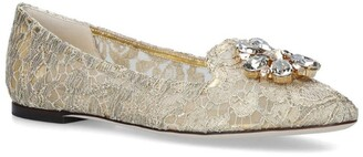 Dolce & Gabbana Lace-Embellished Vally Flats