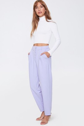 Forever 21 High-Rise Straight-Leg Pants