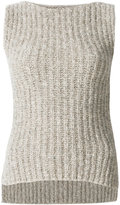 Eleventy rib knit vest top