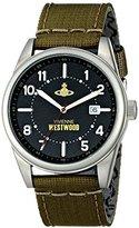 Vivienne Westwood Men's VV079BKGR Butlers Wharf Analog Display Swiss Quartz Green Watch