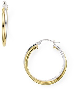Aqua Double Tube Hoop Earrings in 18K Gold-Plated Sterling Silver and Sterling Silver - 100% Exclusive