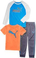 Puma 3-Pc. T-Shirts and Pants Set, Toddler Boys (2T-5T)