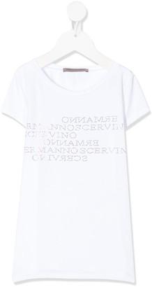 Ermanno Scervino rhinestone logo crew-neck T-shirt