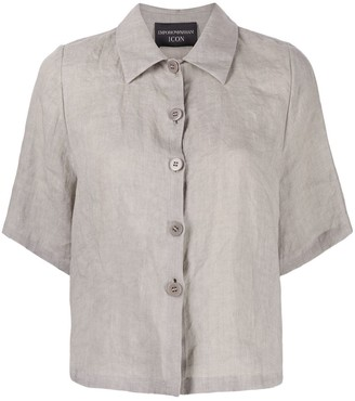 Emporio Armani Button-Up Cropped Shirt