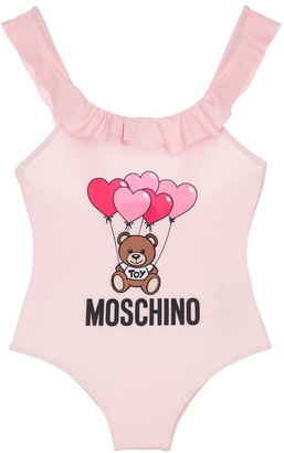 Moschino Logo Print Lycra One Piece Swimsuit