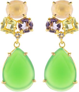 Bounkit Rose Quartz Earring Set