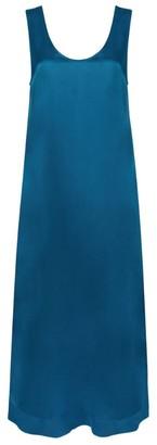 ASCENO Capri Silk Slip Midi Dress