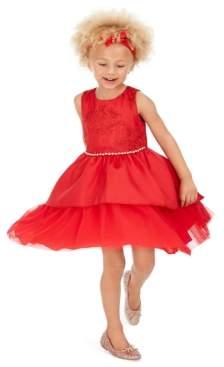 Rare Editions Little Girls Lace Peplum Dress