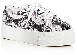 Superga Sneakers Women's Snake-Embossed Low-Top Platform Sneakers