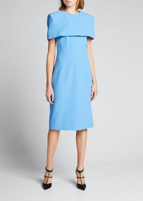 Givenchy Cape-Sleeve Knee-Length Dress