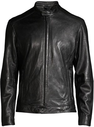 John Varvatos Royce Racer Leather Jacket