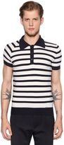 DSQUARED2 Striped Wool Knitted Polo Shirt