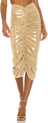 Norma Kamali X REVOLVE Shirred Skirt