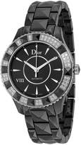 Christian Dior VIII Automatic Diamond Black Ceramic Ladies Watch