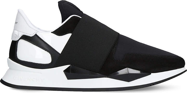 Givenchy Panelled leather and neoprene trainers