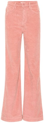 GRLFRND Carla high-rise corduroy pants