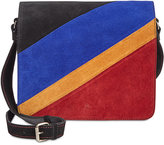 Patricia Nash Suede Colorblock Luca Crossbody DJ Bag