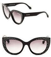 Roberto Cavalli 54MM Crystal-Embellished Cat Eye Sunglasses