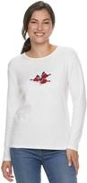 Mccc Sportwear Women's MCCC Sportswear Long Sleeve Holiday Graphic Tee