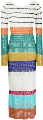 Missoni Perforated Striped Knit Dress