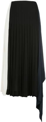 Monse Colour-Block Pleated Skirt