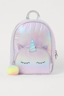 H&M Shimmering metallic backpack
