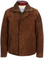 Roundtree & Yorke Suede Hipster Jacket with Removable Bib