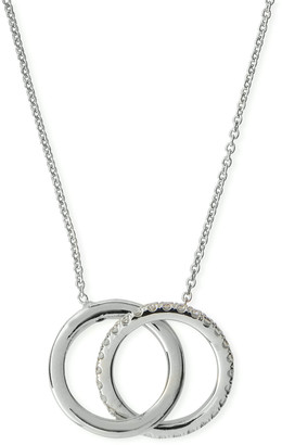 Roberto Coin 18k Two-Tone Diamond Double-Circle Pendant Necklace