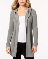 Kensie Hooded Open-Front Cardigan