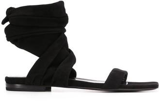 The Attico Wrap Tie Ankle Sandals