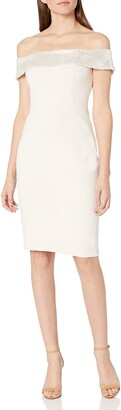 Aidan Mattox Aidan Women's Off The Shoulder Crepe Cktl Dress