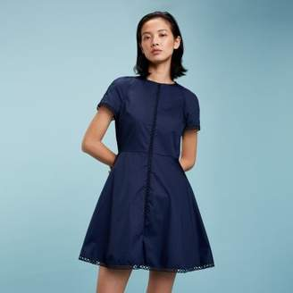 Tommy Hilfiger Lace Trim Cotton Dress