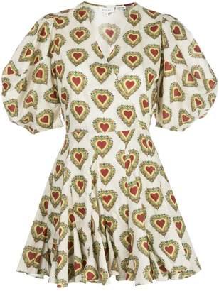 Rhode Resort Rosie heart print mini dress