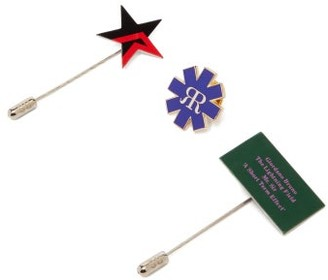 Raf Simons Pack Of Three Brooches - Multi
