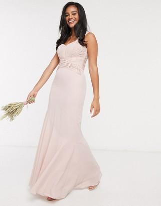 ASOS DESIGN Bridesmaid pleated bodice maxi dress