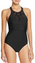 Athena Sahara Palm High Neck One Piece Swimsuit