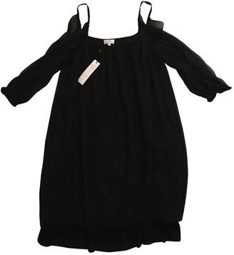 Miguelina Black Silk Dress for Women