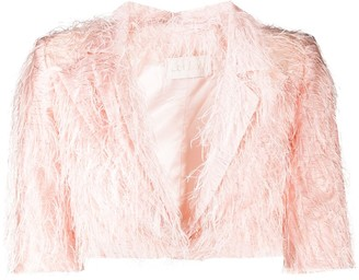 Loulou Frayed-Effect Cropped Jacket