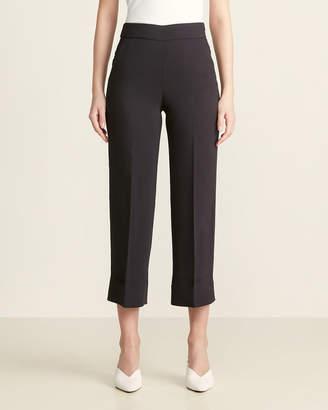 Peserico Black Cropped Wide Leg Pants