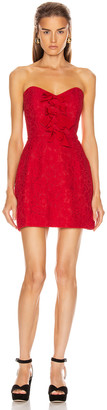 BROGNANO Floral Mini Dress in Red | FWRD